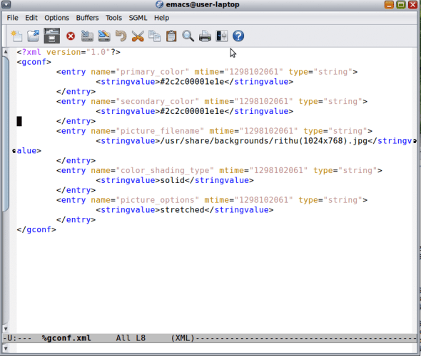 Editing the %gconf.xml file