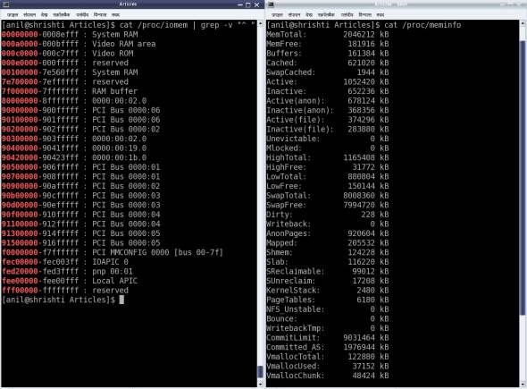 Physical and bus addresses on an x86 system