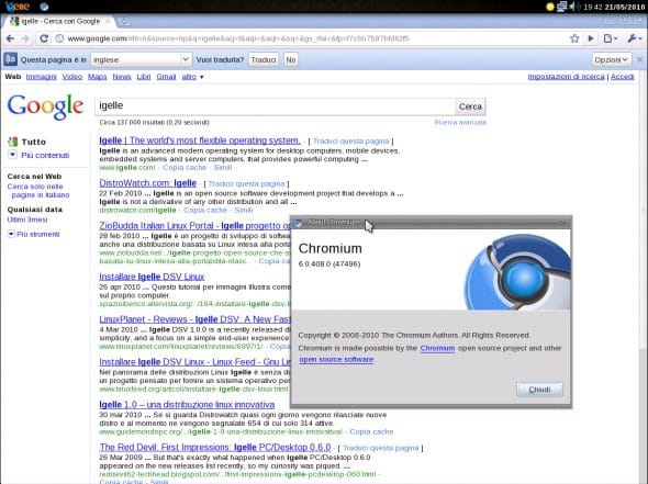 Open-source browser Chromium runs smoothly in Igelle DSV