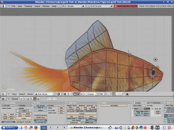 Extruding the top fin
