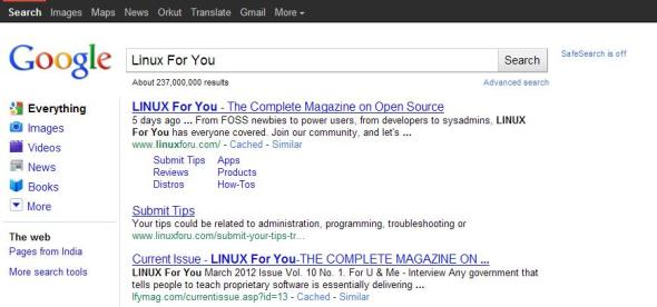 Google shows various parts of a website, retrieved with semantic information