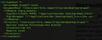 Fig 2 - Virtualhost Conf