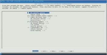 Figure 1 Linux kernel configuration