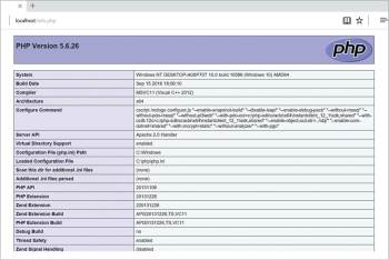 Figure 10 Running index page of PHP