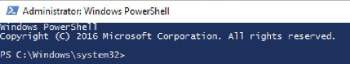 Figure 1 Opening view of PowerShell