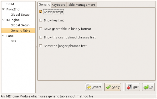Figure 3: Some useful settings