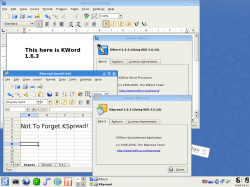 Figure 3: KOffice applications