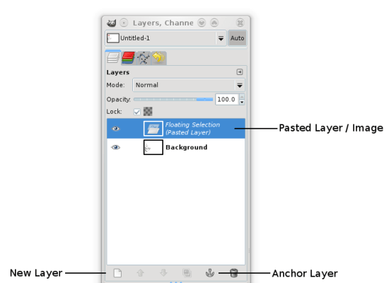 Figure 4: Working with pasted layer