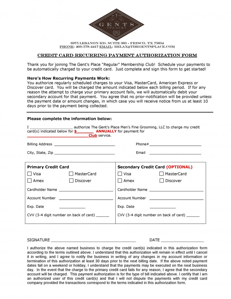 Cc authorization form is used to allow automatic deductions for certain payments. 19 Credit Card Authorization Form Template Download Pdf Doc