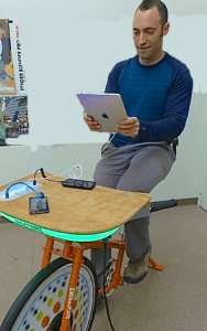 Pedal Powered USB Charge Desk