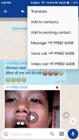 tranlater chat