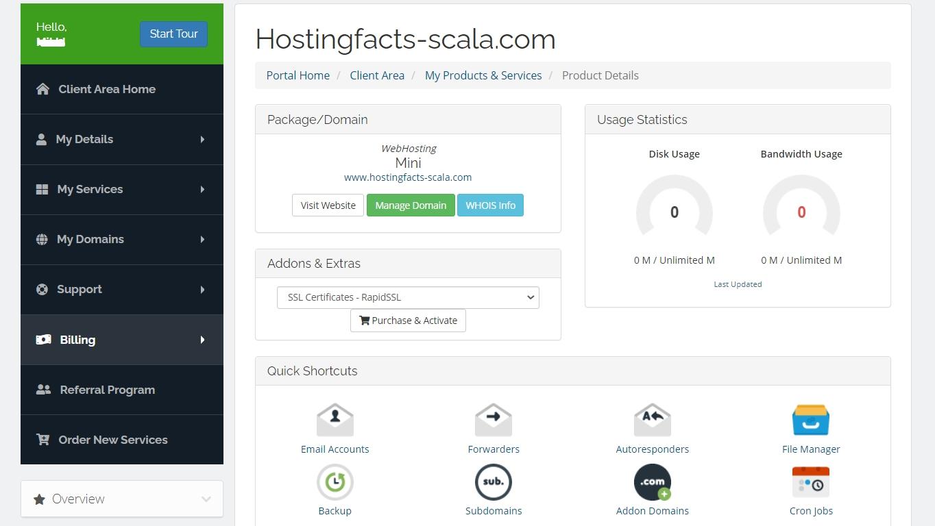 Scala托管客户区