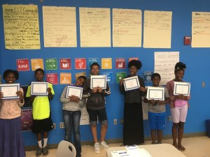 Kids with their certificates