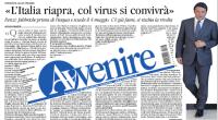 Renzi lo ha sostenuto apertamente,  gli operai devono tornare al lavoro prima di Pasqua, meglio rischiare il contagio che rischiare di perdere produzione e profitti. Lo avevamo già visto in azione col jobs act ...