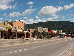 Woodland Park stad i Colorado med operascen