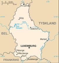 Karta över Luxemburg