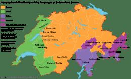 Karta över Schweiz