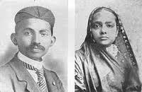 Gandhi och hans fru