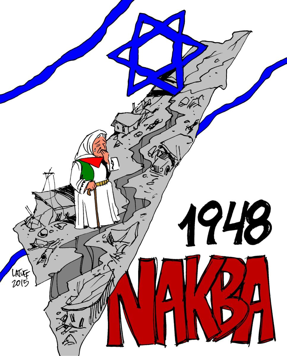 Image result for carlos latuff nakba