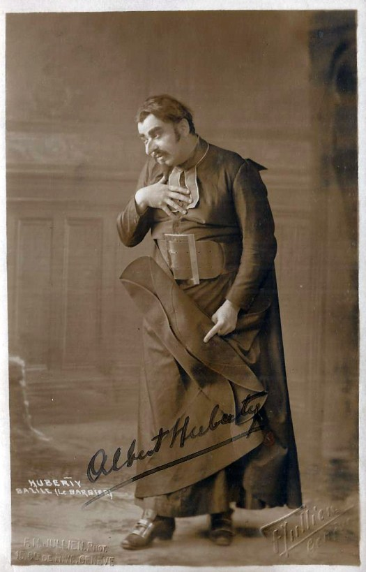Huberty, Albert as Basile in Le Barbier de Seville