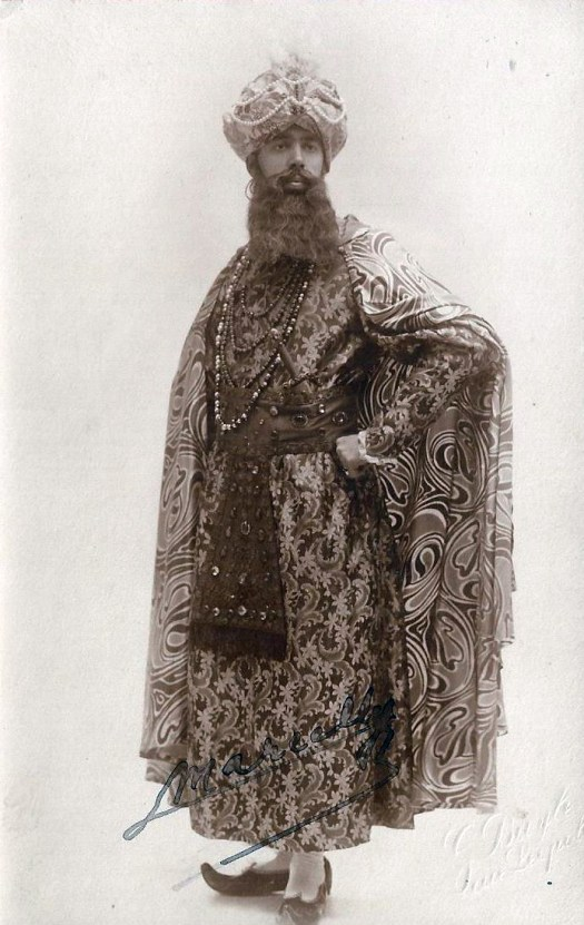 Marcelly, Maurice as Sultan de Khaïtan in Mârouf