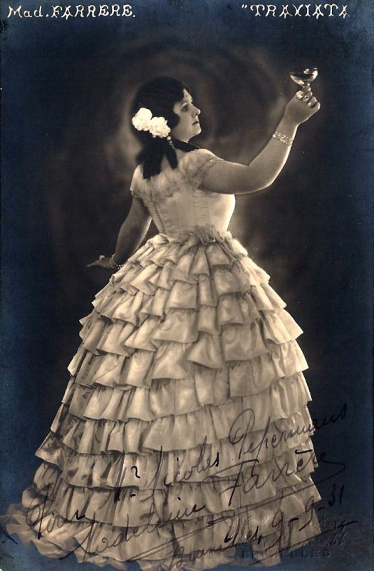 Farrere, Madeleine as Violetta in La Traviata
