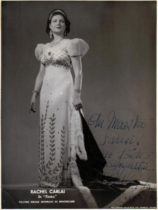 Carlai, Rachel in the title role in Tosca