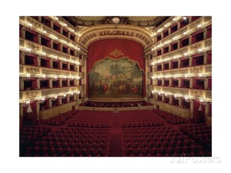 Teatro di San Carlo, Zuschauerraum, Giclée-Druck, erhältlich bei allposters.de
