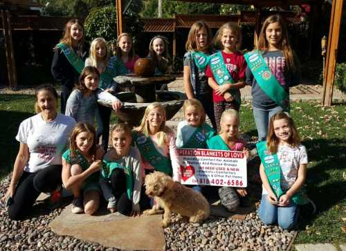 obol backyard with girl scouts