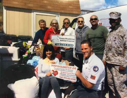 Food, crates, toys, pet beds, and more to the NO KILL shelter at Camp Pendleton.