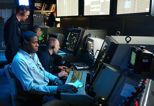 navy air traffic control at work