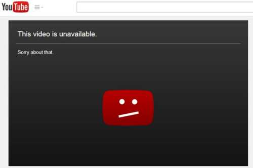 youtube video unavailable
