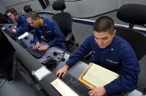 coast guard information systems technician at work