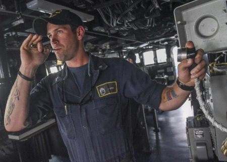 navy boatswain mate at work