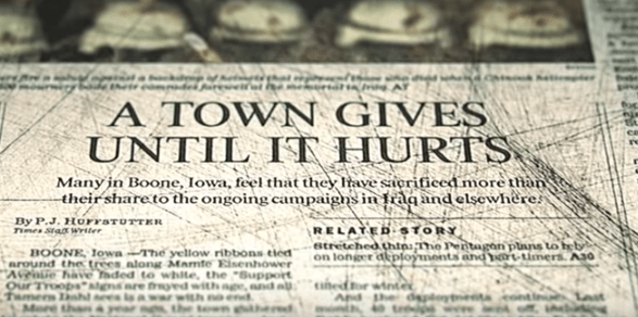 a town gives until it hurts
