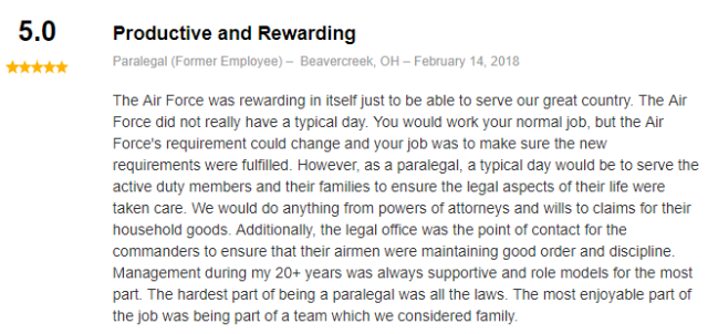 review for air force paralegal