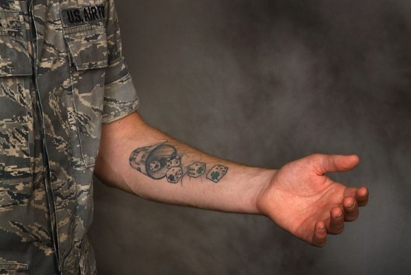 55890518c A tattoo like this is fair game in the US Air Force. Image: AF.mil