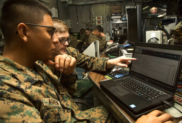 cybersecurity marine job