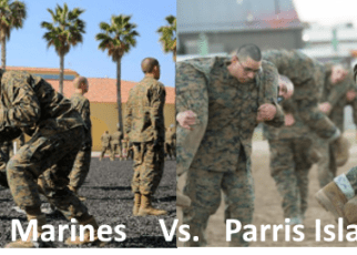 hollywood marines vs parris island