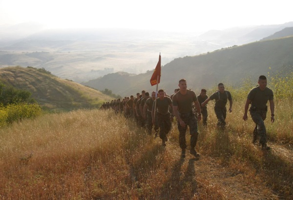 marching up horno ridge