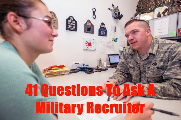 questions to ask a military recruiter