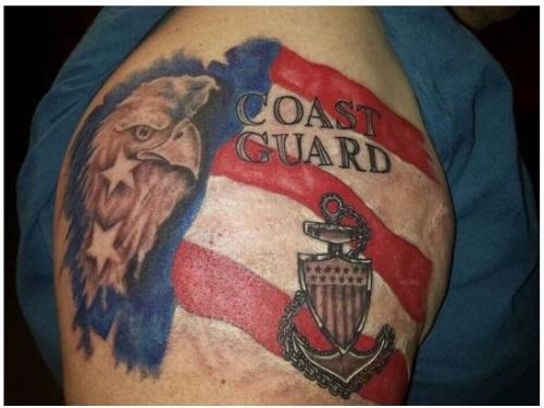 typical coast guard tattoo