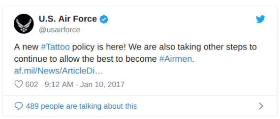 us air force tattoo policy tweet