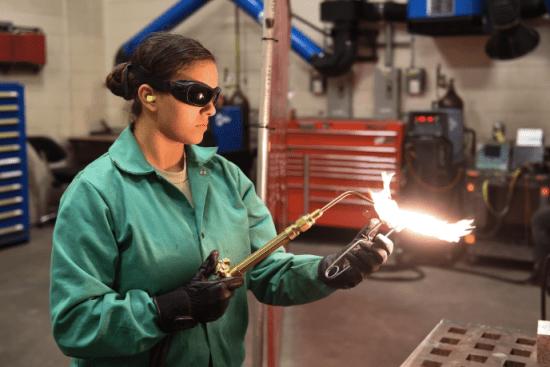 an Aircraft Metals Technology at work