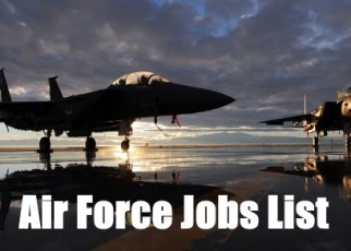 air force jobs list