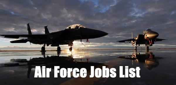 air force jobs list