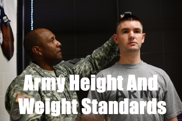 army height and weight standards