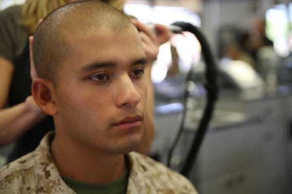 marine corps haircut at boot camp