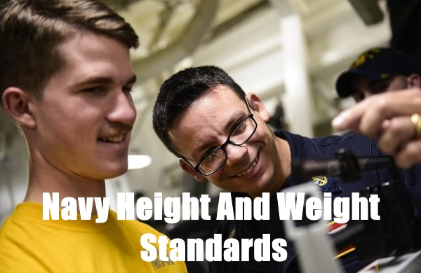 navy height and weight standards for 2019